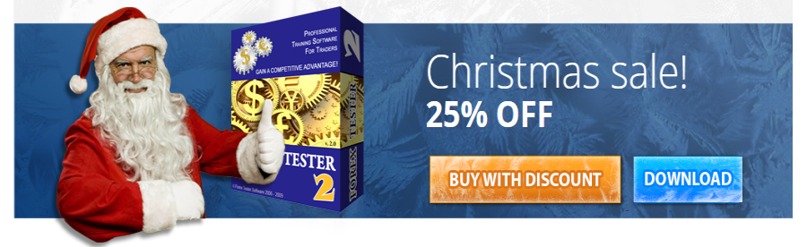 Forex Tester 2 - Christmas Sale is On - 25% Discount